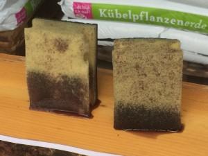 Links: Feines Substrat; rechts: Grobes Substrat